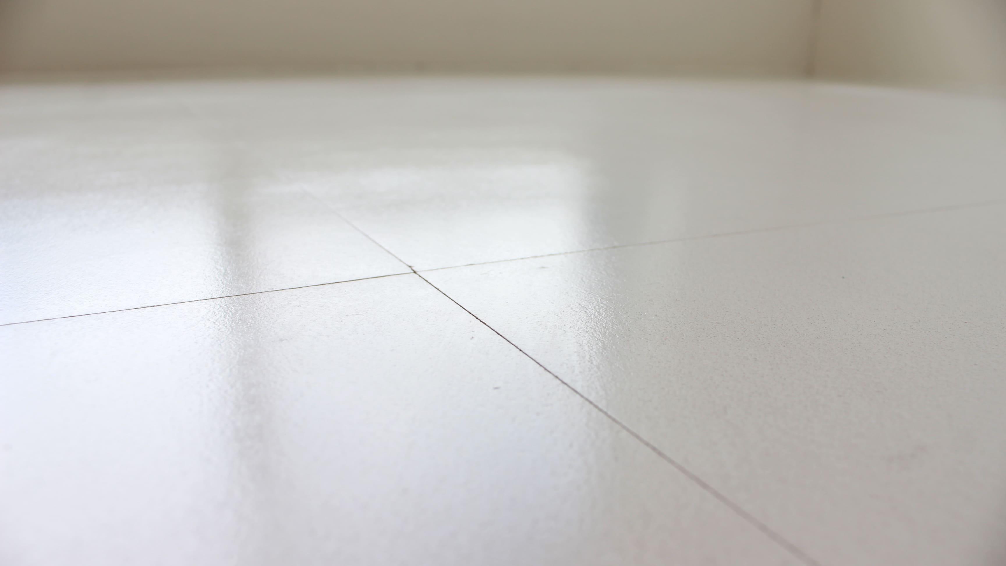床は汚れを拭き取りやすいPタイルです