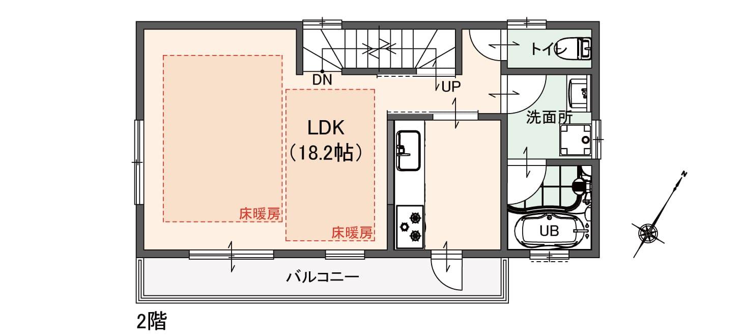床暖スペースが広いのでは!?キッチンが独立なのでは!?