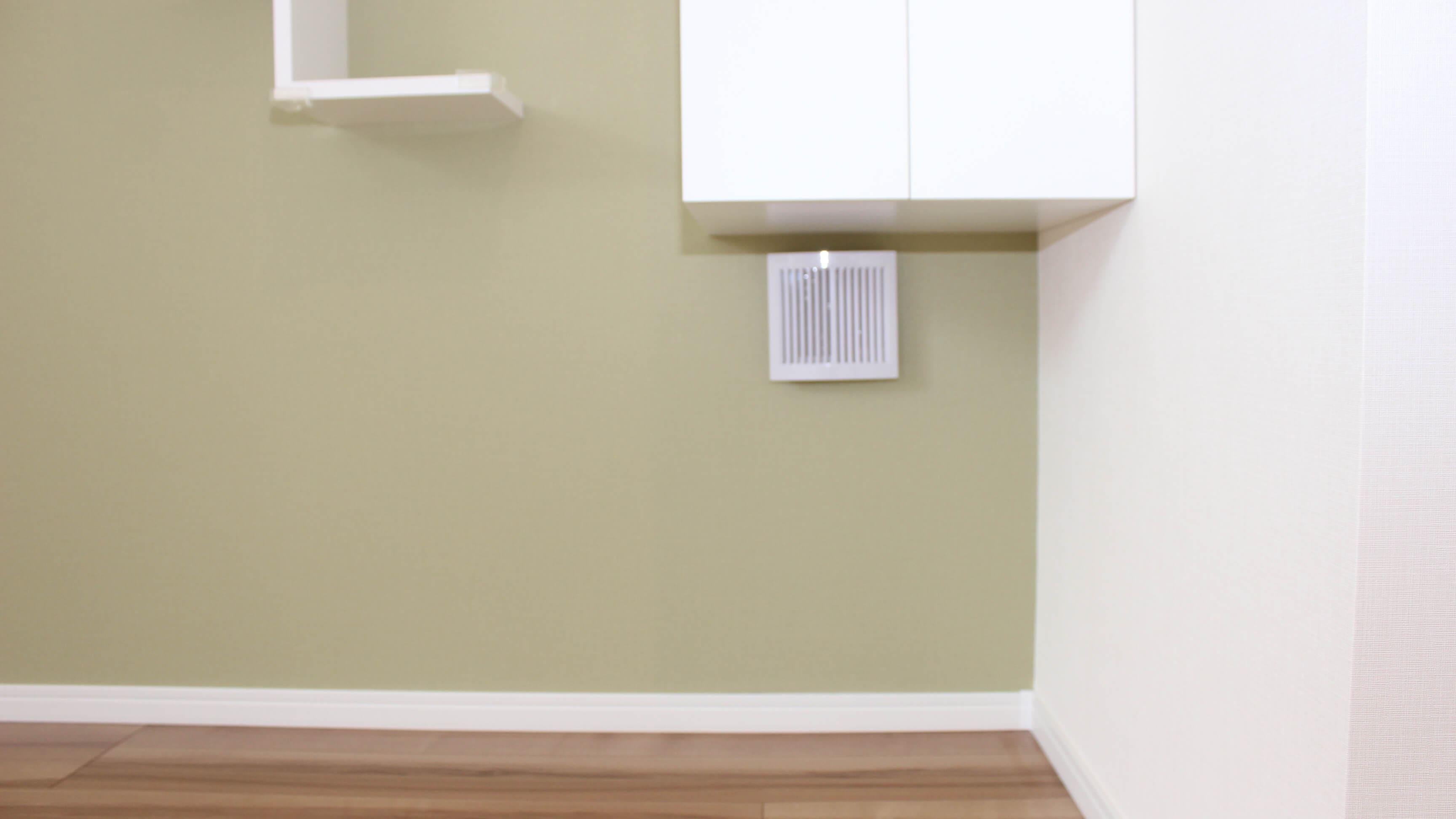 猫さんのトイレ置き場&換気扇