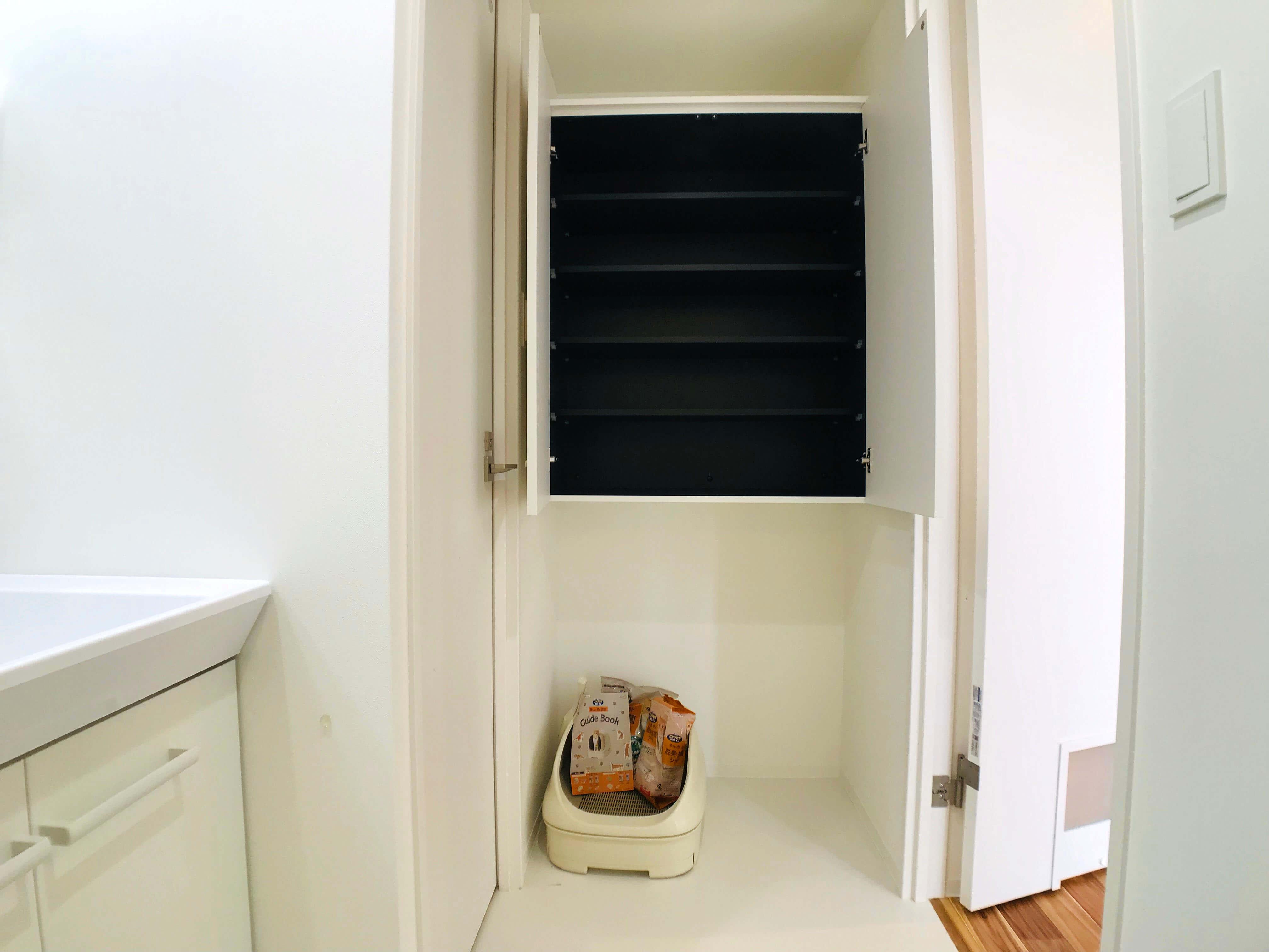 103号室ねこトイレ置き場