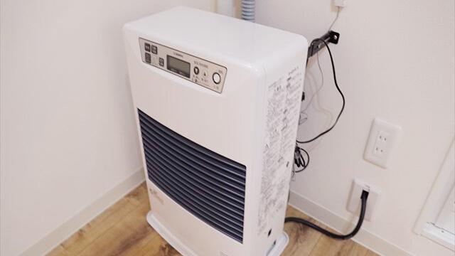 暖房が設備として付いてきます。