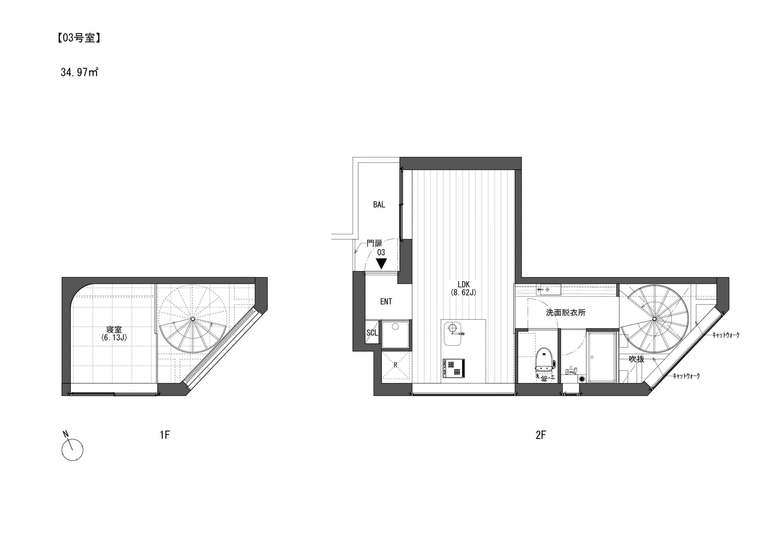 こちらは3号室です。賃料160000円、共益費10000円でございますにゃ。