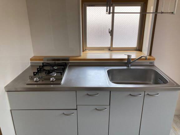 作業スペースもきっちりとられたキッチン