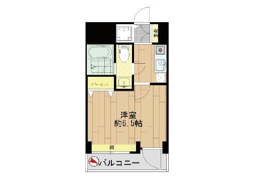 303号室です 1K 25.90㎡ 賃料120,000円(共益費別途10,000円)